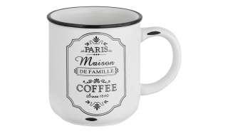 for friends Kaffeebecher  Paris ¦ weiß ¦ Steinzeug ¦ Maße (cm): H: 9,7 Ø: 8.8 Geschirr > Becher - Höffner
