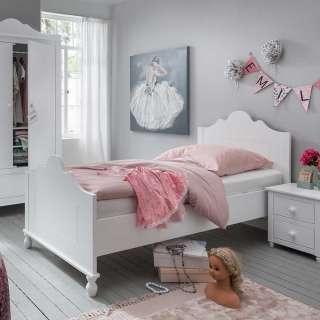 Kinderzimmer Bett in Weiß 90x200 cm