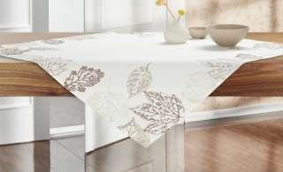 Mitteldecke  Blätter ¦ beige ¦ 100% Polyester ¦ Maße (cm): B: 85 Heimtextilien > Tischwäsche > Tischdecken - Höffner