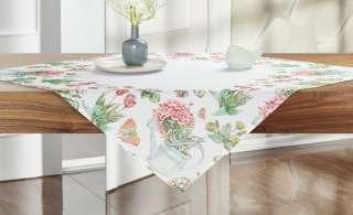 Mitteldecke  Tulpen ¦ weiß ¦ 100% Polyester ¦ Maße (cm): B: 85 Heimtextilien > Tischwäsche > Tischdecken - Höffner