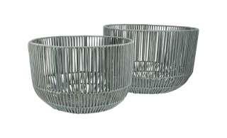 Aufbewahrungskörbe, 2er-Set ¦ grau ¦ Polypropylen, Metall ¦ Maße (cm): H: 28 Ø: 39 Aufbewahrung > Körbe - Höffner