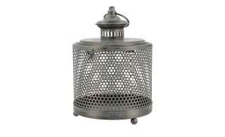 Laterne ¦ grau ¦ Metall, Glas  ¦ Maße (cm): B: 20,5 H: 26,2 T: 19 Ø: 20.5 Dekoration > Laternen & Windlichter - Höffner