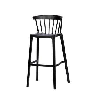 Barstühle in Schwarz Kunststoff (2er Set)