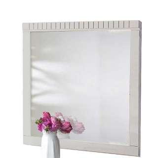 Garderoben Spiegel in Weiß Kiefer Massivholz