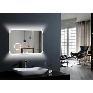 Badezimmerregal aus Bambus massiv und Weiß 110 cm