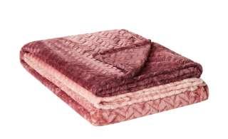 HOME STORY Fleecedecke  Zopf Verlauf ¦ rosa/pink ¦ 100% Polyester  ¦ Maße (cm): B: 150 Heimtextilien > Kuscheldecken - Höffner
