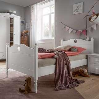 Kinderzimmerbett in Weiß 90x200 cm