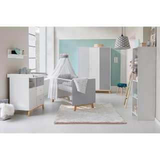 Wohnzimmer Highboard mit Eiche furniert Retro Design