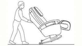Alpha Techno Massagesessel »AT 599i«, mit 4-Rollen-Massagesystem und drehbaresm Massage-Fußteil