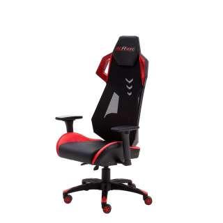 Schreibtischdrehstuhl in Schwarz und Rot Lendenwirbelstütze