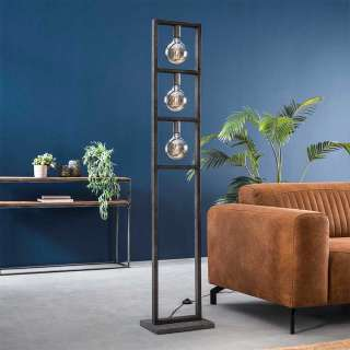 Stehlampe in Altsilberfarben Loft Design