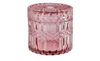Aufbewahrungsdose mit Deckel ¦ rosa/pink ¦ Glas  ¦ Maße (cm): H: 8,6 Ø: 9 Dekoration > Deko-Schalen - Höffner
