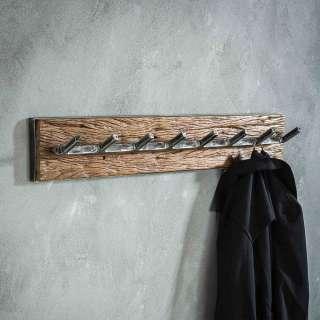 Garderobenhaken aus Hartholz und Metall 90 cm breit