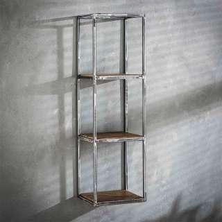 Wandhängeregal aus Hartholz und Stahl 100 cm hoch