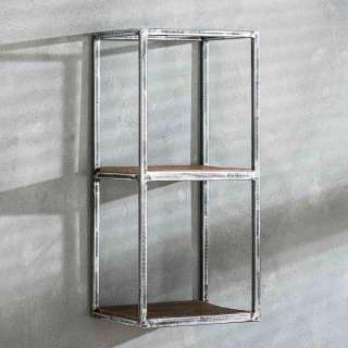 Wandregal aus Hartholz und Stahl 65 cm hoch