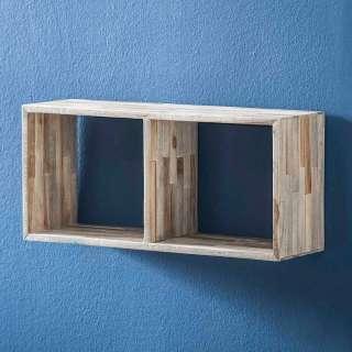 Wandhängeregal aus Teak Massivholz 65 cm breit