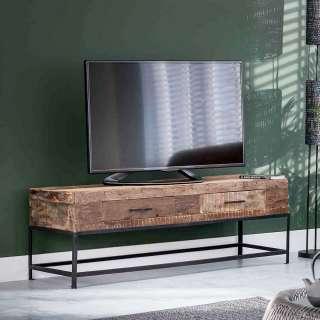 TV Tisch aus Recyclingholz und Metall Industry Design
