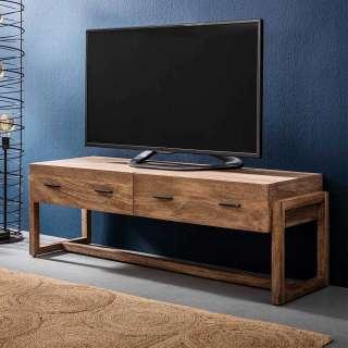 TV Unterschrank aus Mangobaum Massivholz 135 cm breit
