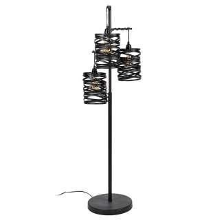 Stehlampe in Anthrazit Loft Design