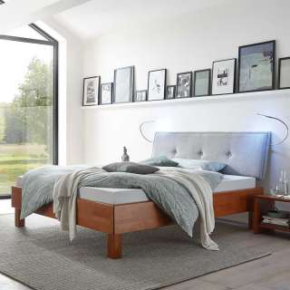 Design Hocker in Beige und Weiß Deckel