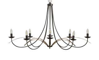 Kronleuchter, 8-flammig, schwarz-rostfarben ¦ schwarz ¦ Maße (cm): H: 68 Ø: 110 Lampen & Leuchten > Innenleuchten > Kronleuchter - Höffner