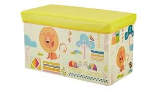 Sitzbank mit Stauraum  Zoo ¦ gelb ¦ Bezug: 100% Polyester Füllung: 100% Polyurethan Einlagen aus Pappe ¦ Maße (cm): B: 60 H: 30,5 T: 35 Baby > Unterwegs > Boxen - Höffner
