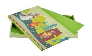 Sitzbank mit Stauraum  Waldtiere ¦ grün ¦ Bezug: 100% Polyester Füllung: 100% Polyurethan Einlagen aus Pappe ¦ Maße (cm): B: 60 H: 30,5 T: 35 Baby > Unterwegs > Boxen - Höffner