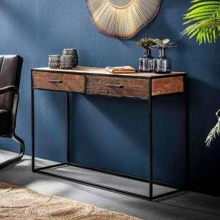 Konsolen Tisch aus Hartholz und Stahl 120 cm breit