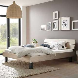 BOPITA Jente Hochbett mit gerader Leiter Weiß 90 x 200 cm 12910611