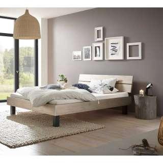 Bett Kombination in Silberfarben und Anthrazit modern (3-teilig)