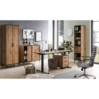 Schreibtisch Rollcontainer mit 5 Schubladen Eiche Sonoma