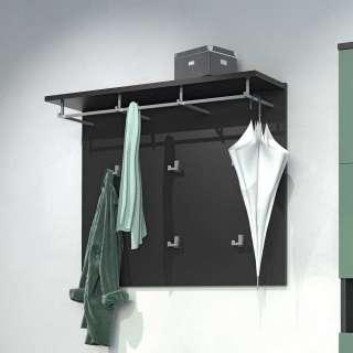 Garderobe in Anthrazit 105 cm breit