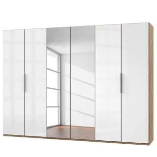Esstischstuhl in Weiß Kunstleder hoher Lehne (4er Set)
