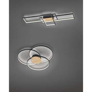 home24 LED-Deckenleuchte Sedona