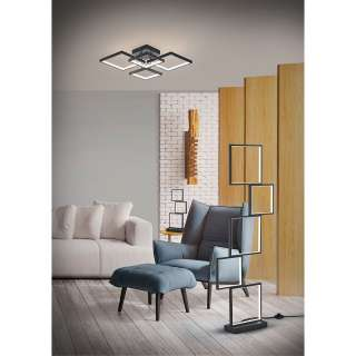 home24 LED-Stehleuchte Sorrento