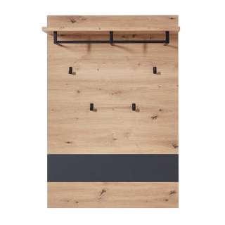 Hängegarderobe in Wildeichefarben und Dunkelgrau 80 cm breit