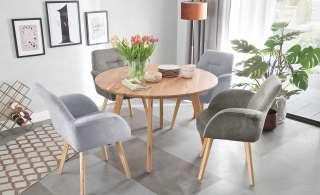 Woodford Sessel  Melba ¦ grau ¦ Maße (cm): B: 66 H: 88 T: 70 Stühle > Esszimmerstühle > Esszimmerstühle mit Armlehnen - Höffner