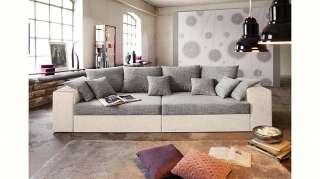 Nova Via Big-Sofa, wahlweise mit Kaltschaum (140kg Belastung/Sitz) und Bettfunktion