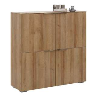 Wohnzimmer Sideboard aus Eiche Bianco 180 cm breit
