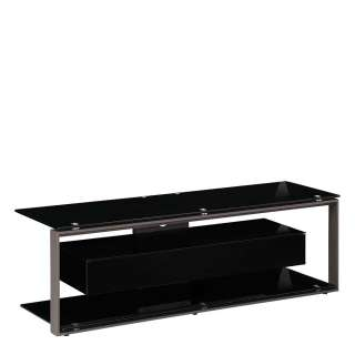 TV Rack in Schwarz Klappe