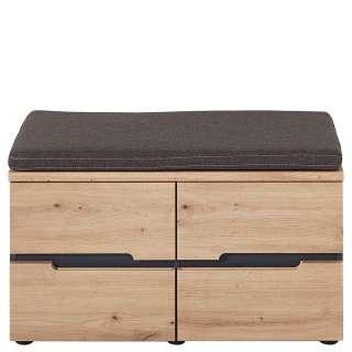 Garderoben Sitzbank in Wildeichefarben 80 cm breit