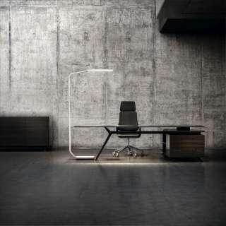 Büromöbel Komplettset in Weiß und Eiche modern (3-teilig)