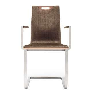 Sofa Ablagetisch in Schwarz Nickel 50 cm breit