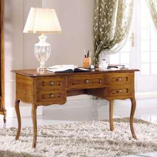 Italienischer Design Schreibtisch in Nussbaumfarben 130 cm breit