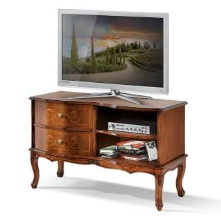 TV Kommode in Nussbaumfarben Barock Design