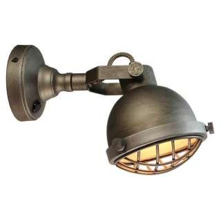 Deko Wandlampe aus Metall 25 cm tief