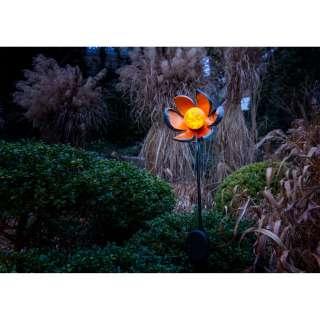 home24 LED-Solar Erdspieß Blume
