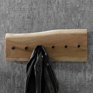 Wandgarderobenleiste aus Akazie Massivholz 60 cm breit