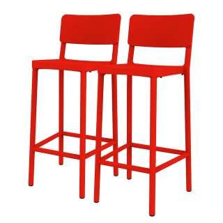 Faltsofa in Rot Webstoff modern