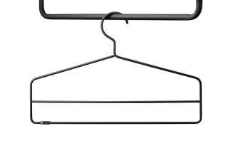 String - Kleiderhaken 4er Set - schwarz - indoor